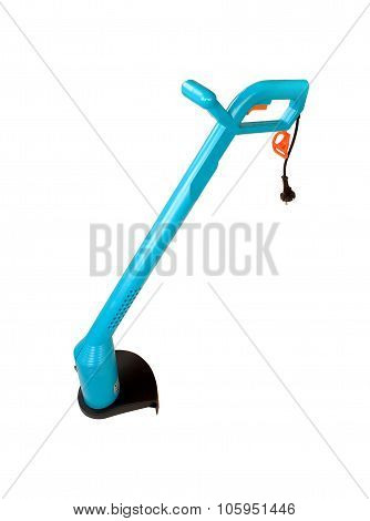 Electic - Mechanic Garden Grass Trimmer Isolated On White With Clipping Path