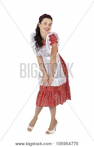 Beautiful Housewife Isolated On White