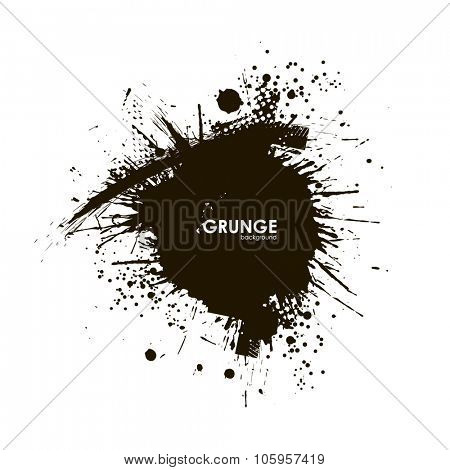 Splatter Background. Black Ink Splats. Spray Paint Splatters. Vector Paint Splats. Blots and Splashes. Grunge Ink Stains. Distress Vector Stains for Grunge Effects. Ink Splats for Design Use for print