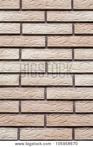 Decorative Relief Cladding Slabs Imitating Bricks  On Wall