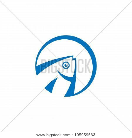 Fish - vector logo concept illustration. Vector logo template. Design element.