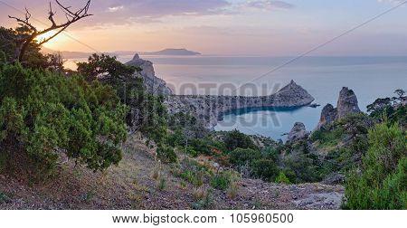 Daybreak Crimea Coastline Landscape