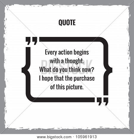 Graphic frame template for quote. Vector frame template. Quote text bubble. Design element.