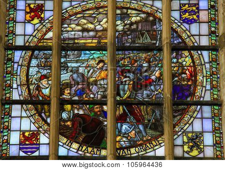 Stained Glass - The Capture Of Brielle (1572)