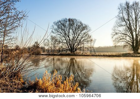 River Ruhr At Sunrise, Schwerte Geisecke, Germany