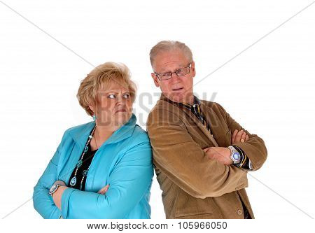 Mature Couple Mad At Each Other.