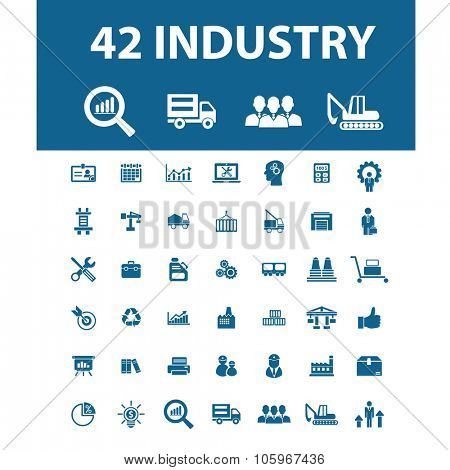 industry, industrial business, factory icons