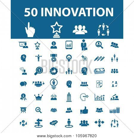 innovation, business success, community icons