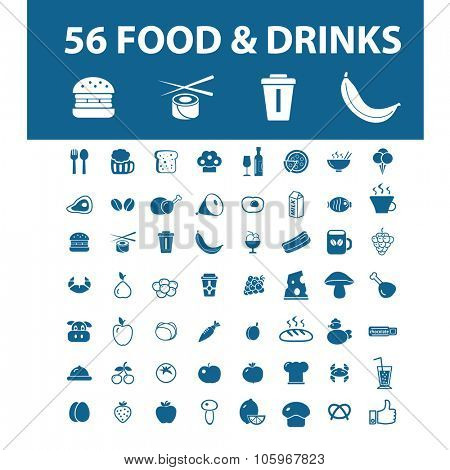 food, drinks, restaurant icons
