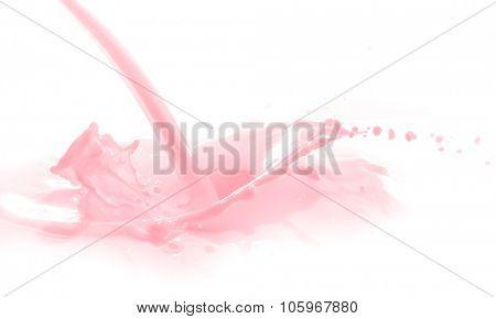 strawberry milk splash isolated on white background