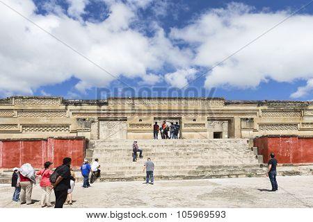 The Church Of San Pablo in Mitla, Oaxaca, Mexico.