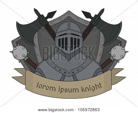 Medieval knight logo. Color