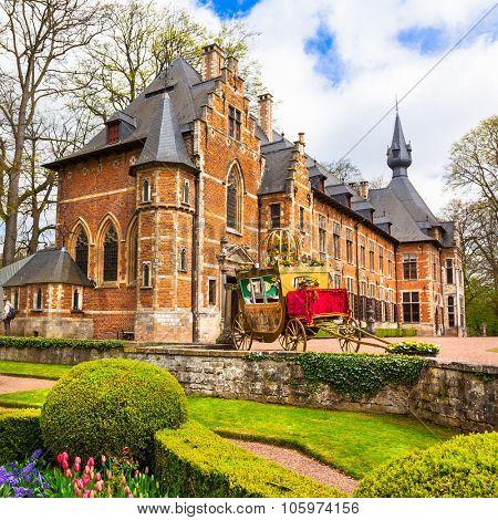 castles of Belgium -Groot-Bijgaarden with famous gardens