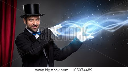 magician from leading his performance
