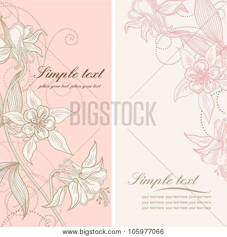 Stock Vector Wedding Card Or Invitation With Abstract Floral Background