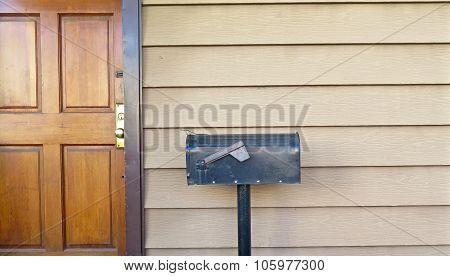 Front Door and Mailbox