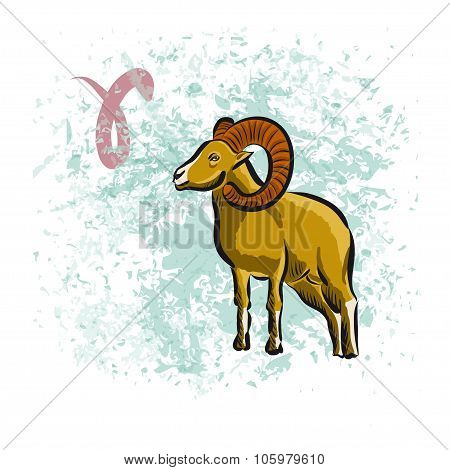Aries sign of the Zodiac