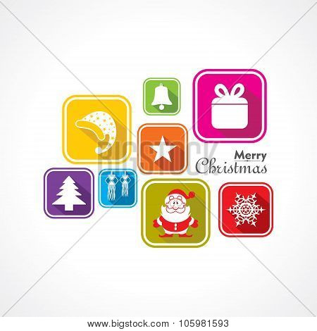 Christmas Celebration symbols stock vector