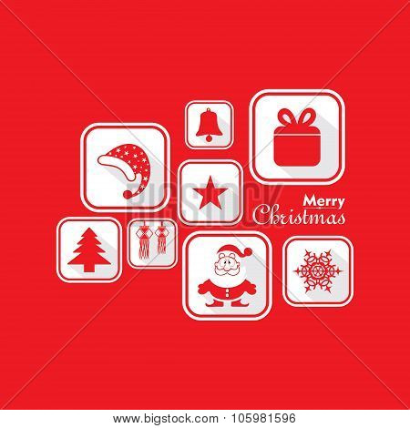Illustration of Christmas Celebration background stock vector