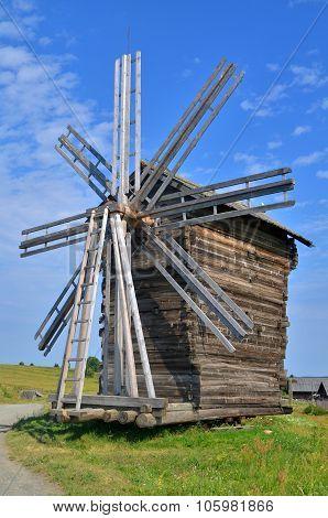 Working Mill In Russian Village