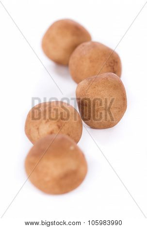 Marzipan Potatoes (german Cuisine) Isolated On White