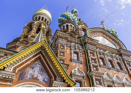 St Petersburg, Russia - July 28, 2015: Church Of The Savior On Spilled Blood (cathedral Of Resurrect