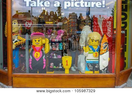 Shop Window Of Toys In Amsterdam. Netherlands