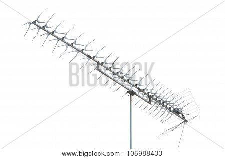 Tv Antenna Isolated On White