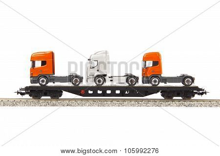 Toy Cargo Wagon With Trucks