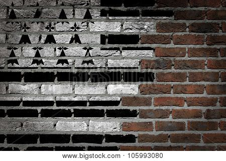 Dark Brick Wall - Brittany