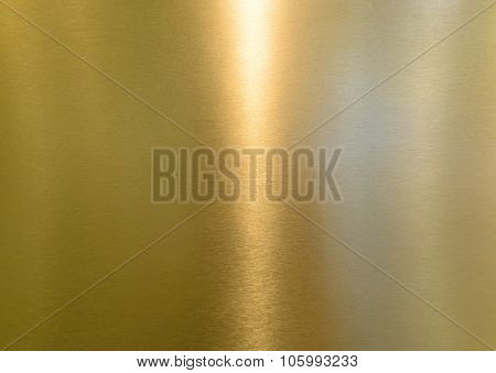 Yellow Shiny Metal Surface