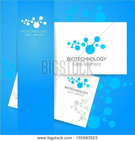 Biotechnology. Vector logo template.