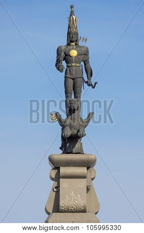 Almaty - Sculpture Of Golden Warrior