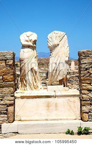 Archeology  In Delos Greece