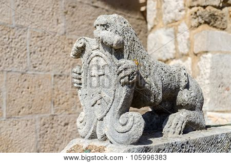 Sculpture Of A Lion At The Church , Montenegro
