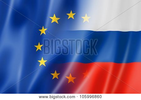 Europe And Russia Flag