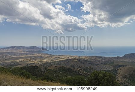 Semi-desert Area Of The Black Sea Coast.