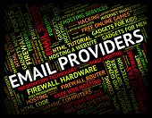 Постер, плакат: Email Providers Means Send Message And Communication