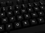 Porn Porn Porn Computer Keyboard Background poster