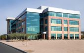 stock photo of building exterior  - brand new generic modern office building  - JPG
