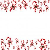 stock photo of candy cane border  - A candy cane border on a white background candy cane border - JPG
