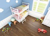 image of bunk-bed  - children - JPG