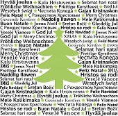 stock photo of merry christmas text  - Merry Christmas in different languages - JPG