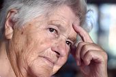 picture of elderly woman  - senior woman  - JPG