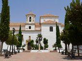 Image of white church in ronda.