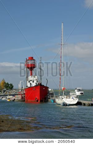 Lightship And Yacht On Strangford Lough