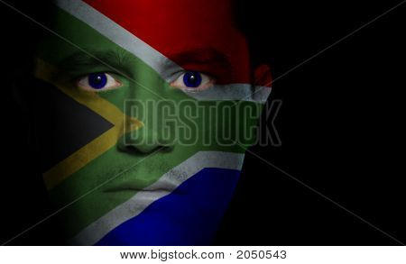 South African Flag - Male Face