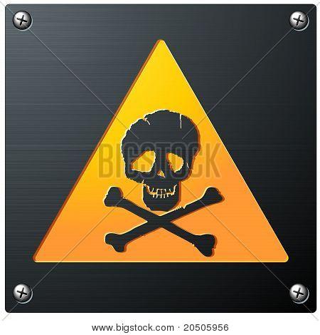 Metal Grunge Skull Sign