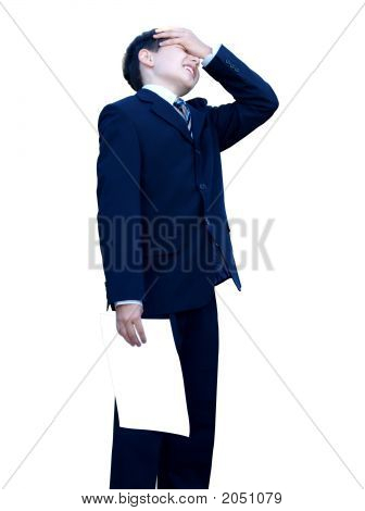 Upset Schoolboy