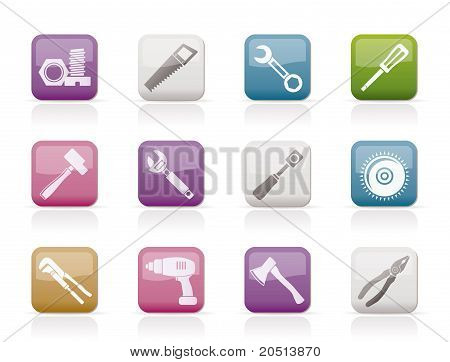 diferentes tipos de iconos de herramientas